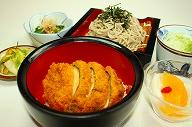 しいたけタレカツ丼・そばセット(温・冷)¥1200